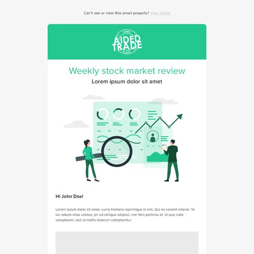Email design for Aided Trade