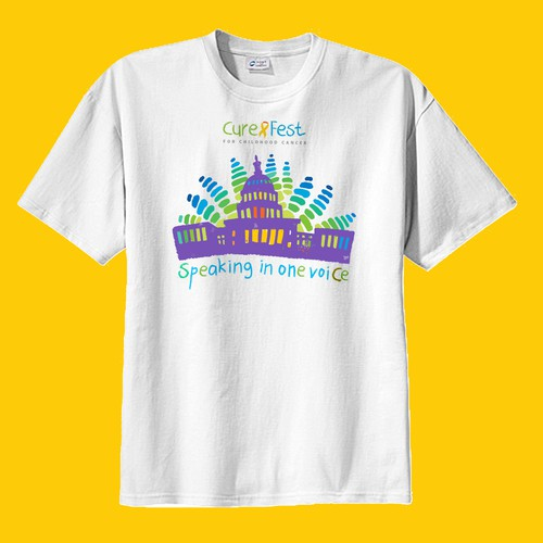 Compelling t-shirt design to promote CureFest in Washington DC