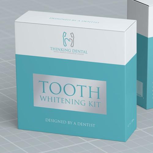 Tooth whitening kit box design