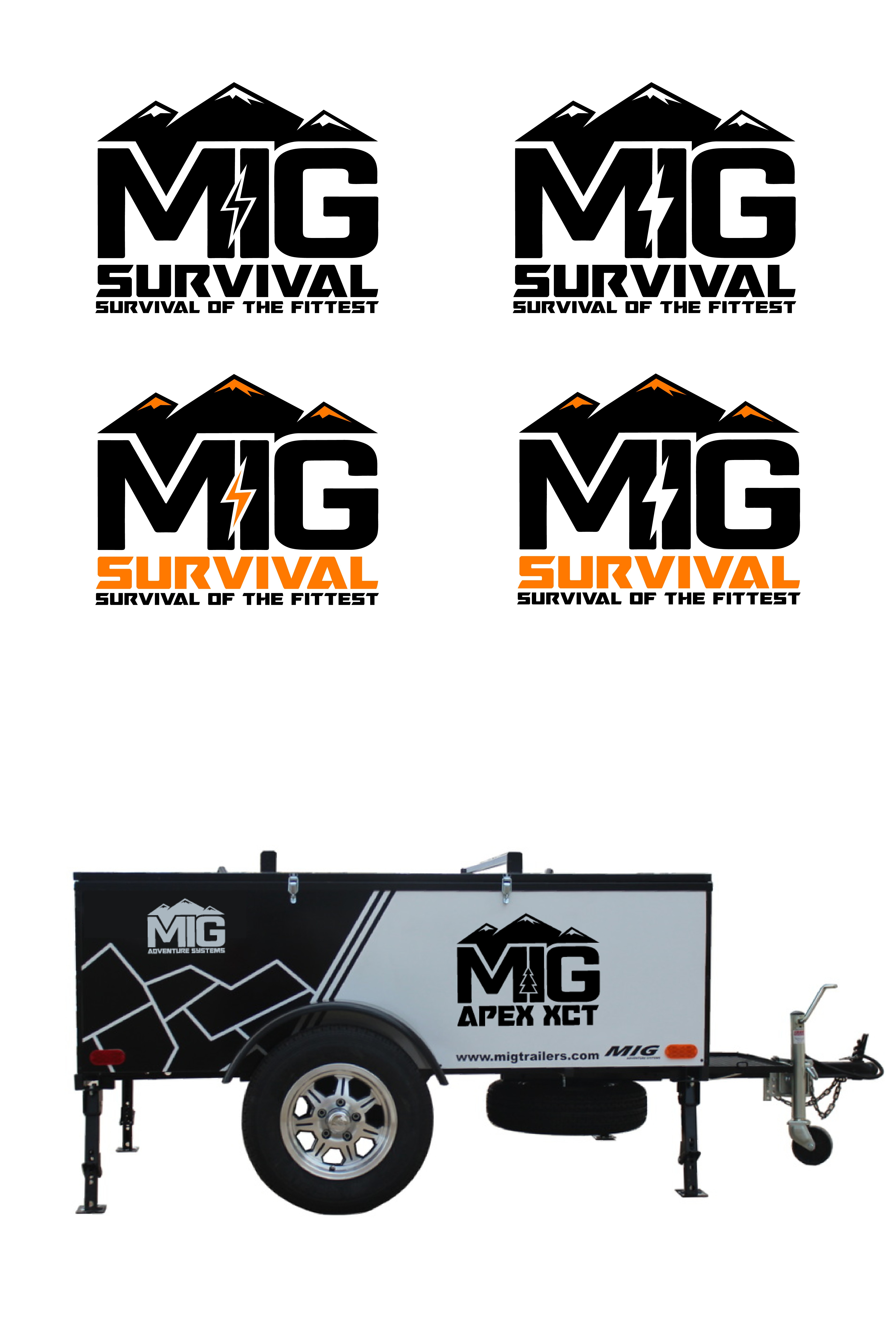 Create a Logo that invokes action for MIG Trailers survival edition