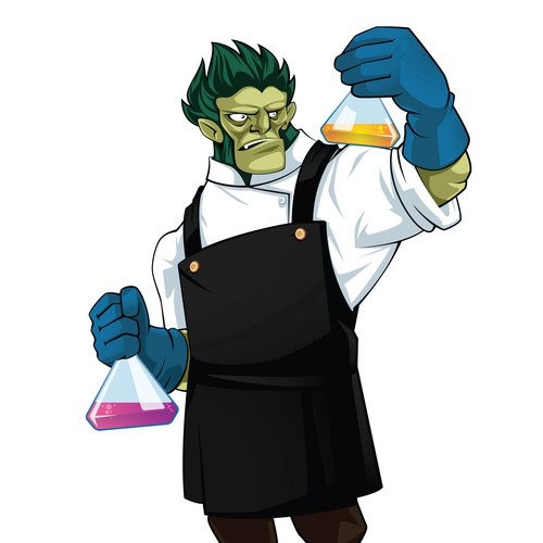 Mad Scientist Monster Character