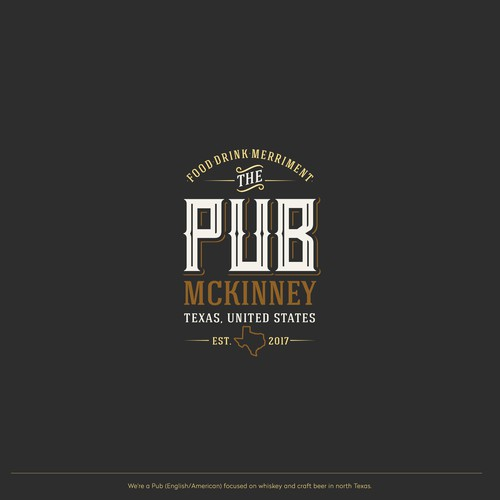 Typography logo for beer and whiskey pub