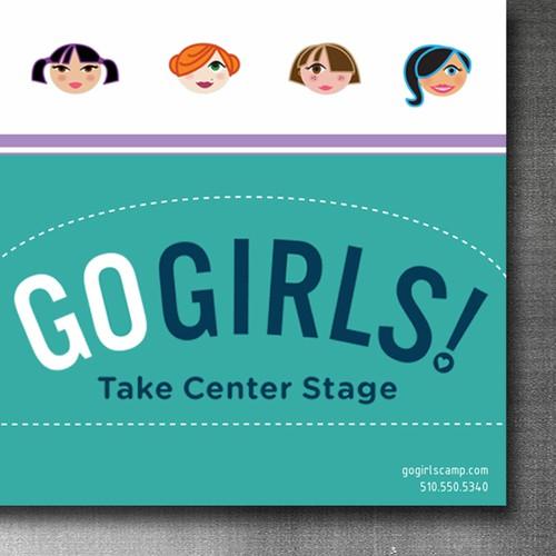 Postcard design for the girls summer camp