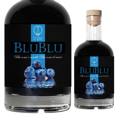 Blueberry grappa from Fiumicino