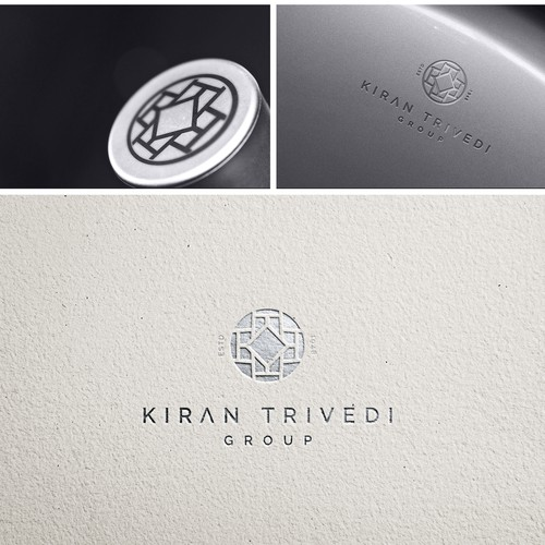 logo design and branding for kiran trivedi group