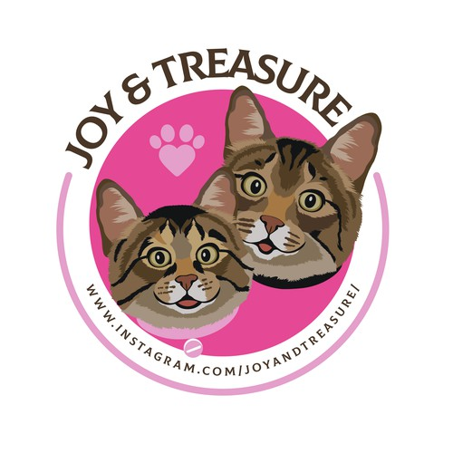 Design a fun and playful logo for a cat Instagram account and online shop