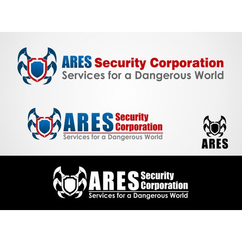 Create the next logo for ARES Security Corporation