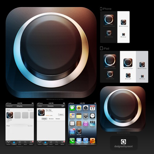New icon or button design wanted for Black Button
