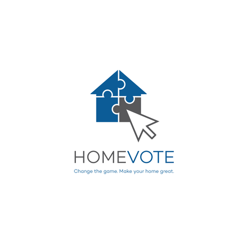 HOME VOTE logo concept