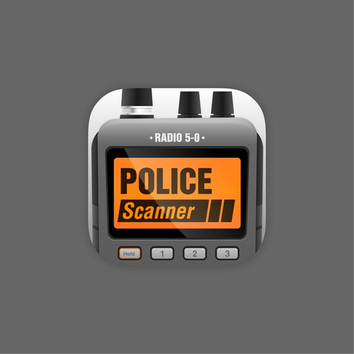 Icon design for police scanner RADIO 5-0 app