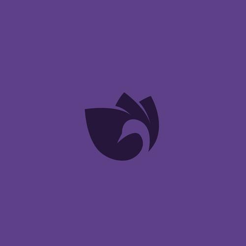 Swan and flower logo