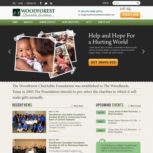 Website design for Wood Forest
