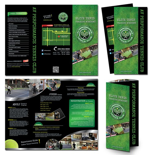 AV Performance Tennis Club needs a new print or packaging design