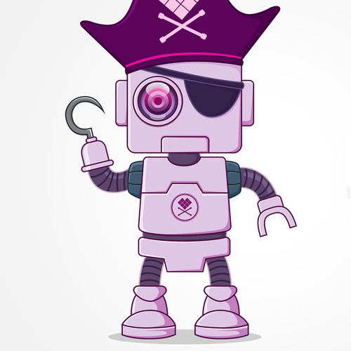 Pirate Robot Character Design