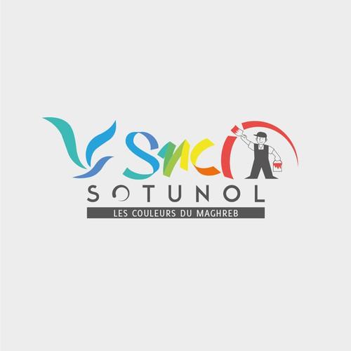 Concept de logo pour une société Tunisienne de peinture