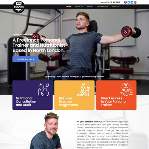 Website for Fitness Trainer