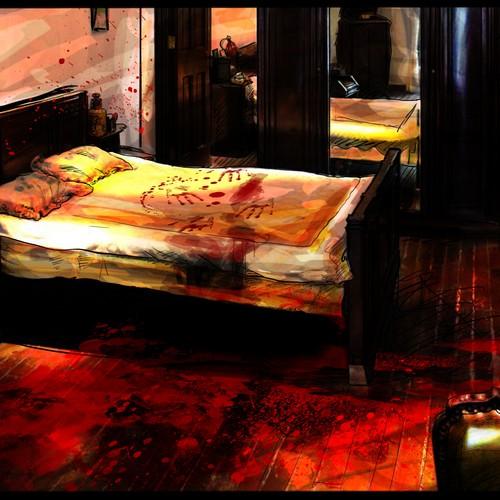 Illustration art for novel thriller