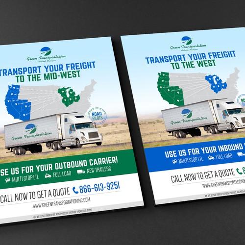 Green Transportation needs a minimalism designed brochure