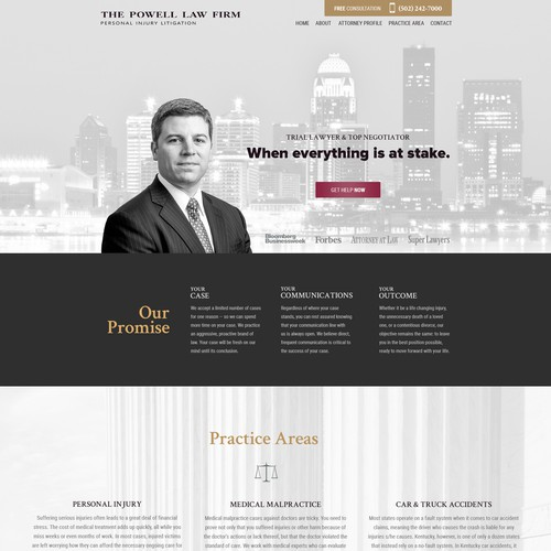 Website for Attorney at Law Firm