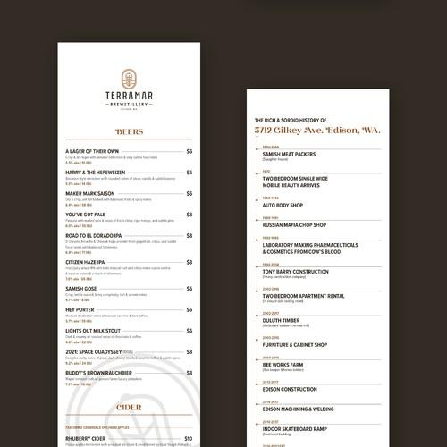 Terramar品尝菜单