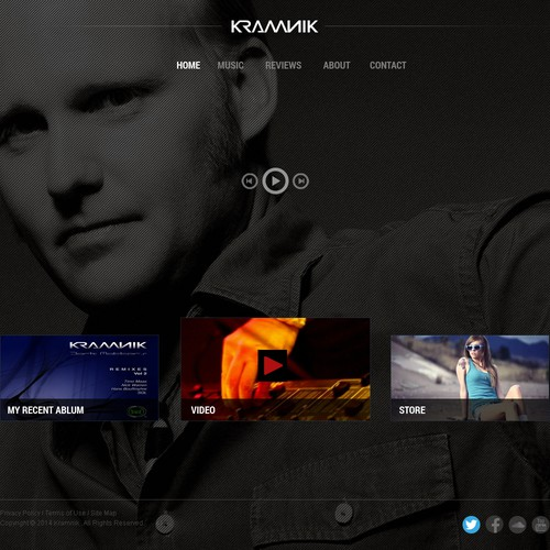 Krannik web page design