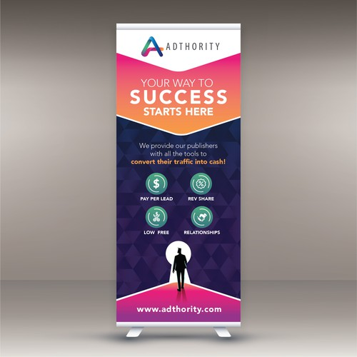 ADTHORITY ROLL UP BANNER