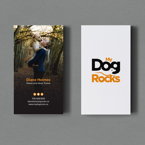 Business Card for My Dog Rocks