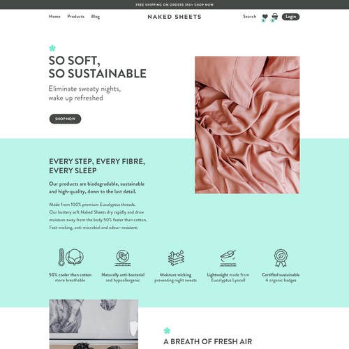 Naked sheets Homepage