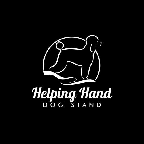 Dog helping