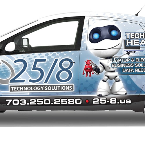 Vehicle Wrap for IT Repair Company