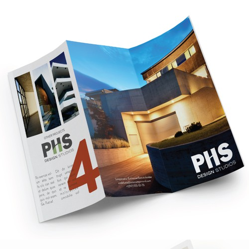Brochure for architecture firm