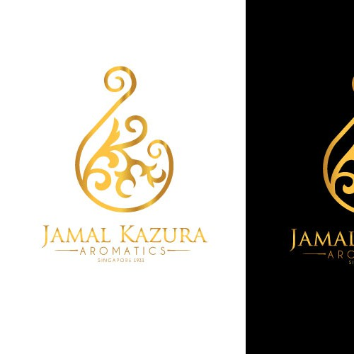 Create the next logo for Jamal Kazura Aromatics