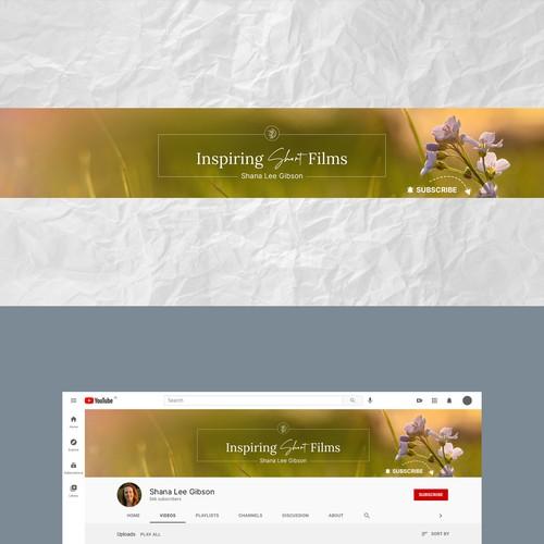 Youtube Banner & Thumbnail for Inspirational Filmmaker