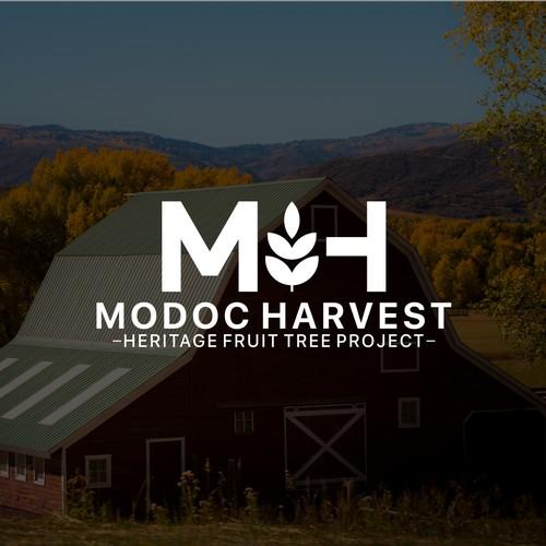 Modoc Harvest Logo Design.