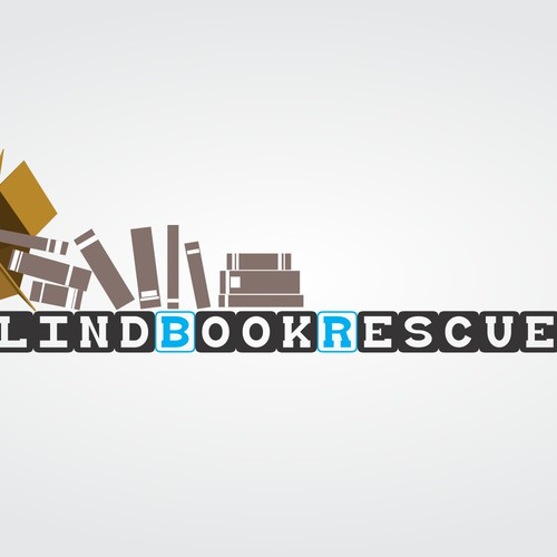 Create an eye catching logo for a book rescue.