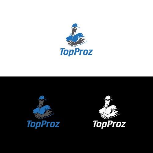 Bold Logo Concept for TopProz