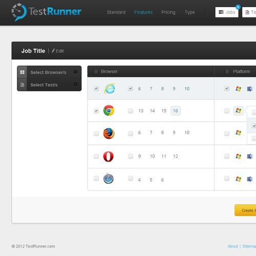 TestRunner Dashboard Design