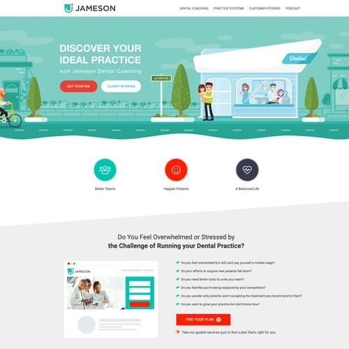 JAMESON - Landing Page Illustration