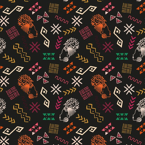african soulful  pattern