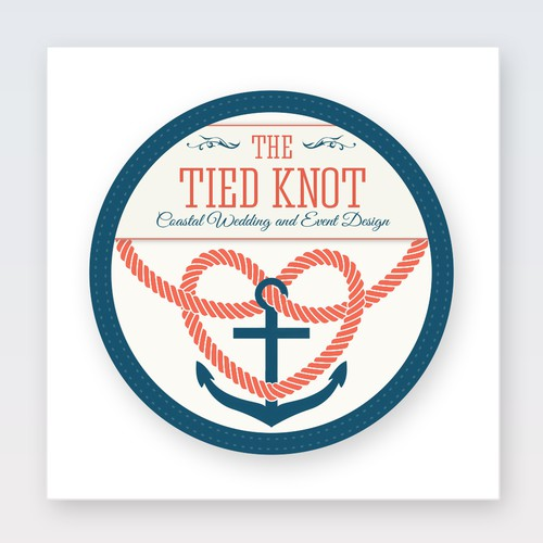 Design a classic nautical logo for 'The Tied Knot'...wedding/event planning.
