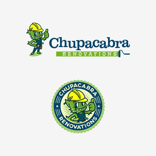 Playful Chupacabra logo design