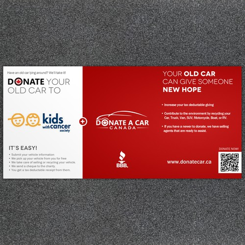 New postcard or flyer wanted for Donate a Car Canada