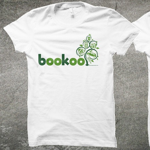 t-shirt design for bookoo.com