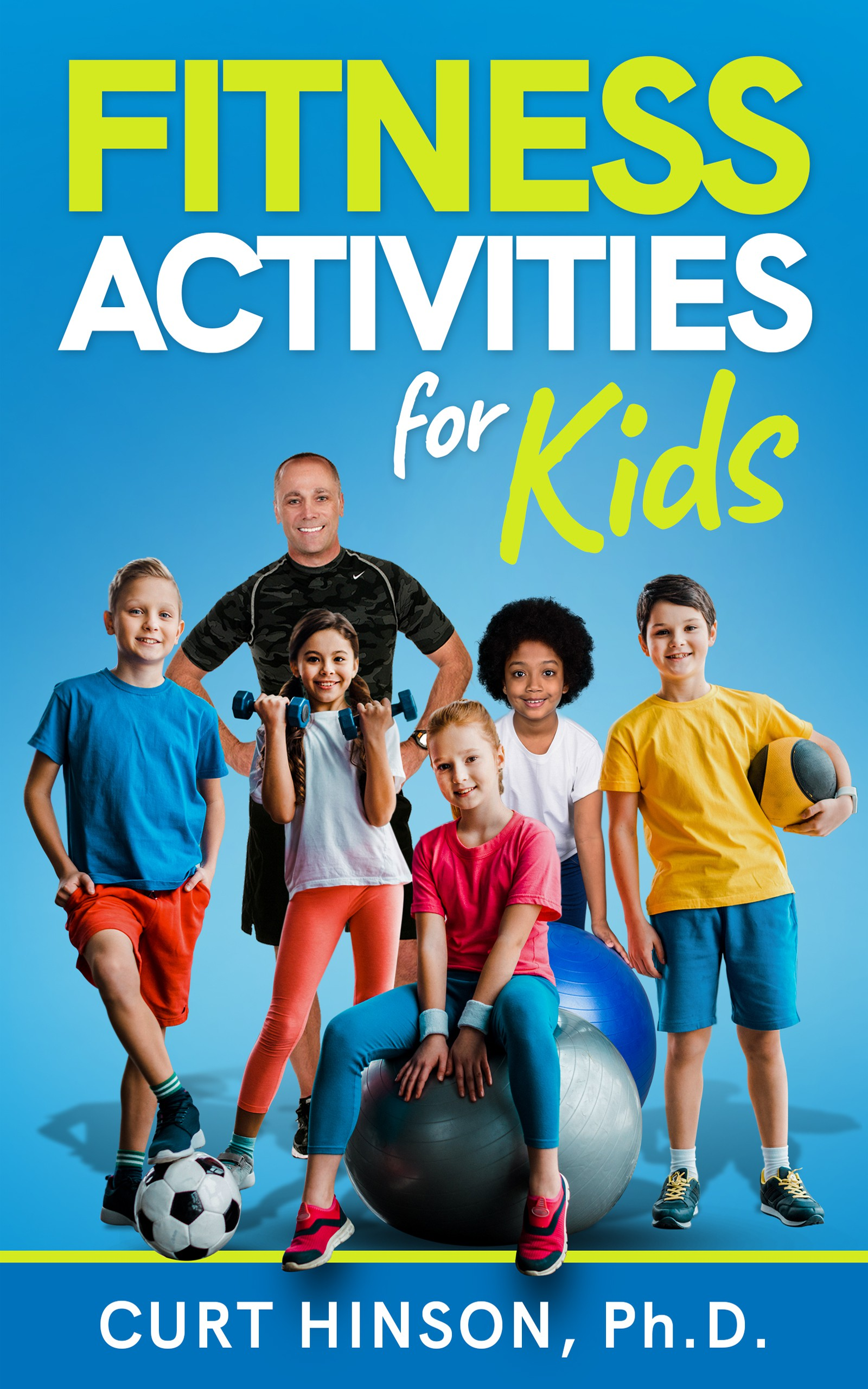 We need a fun and colorful book cover for a fitness activity book geared to school teachers.