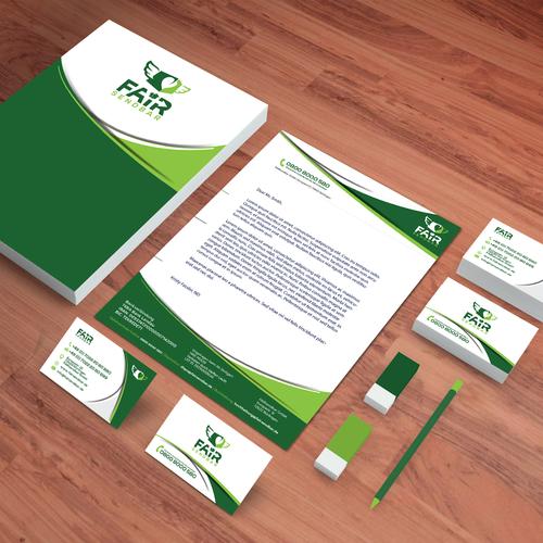 FAIRsendbar Business Card and Letterhead design