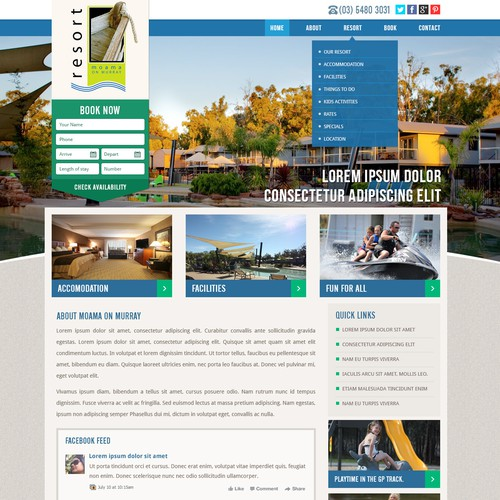New website design wanted for Moama on Murray