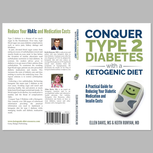 Create a Diabetes Book Cover with Strong Typography