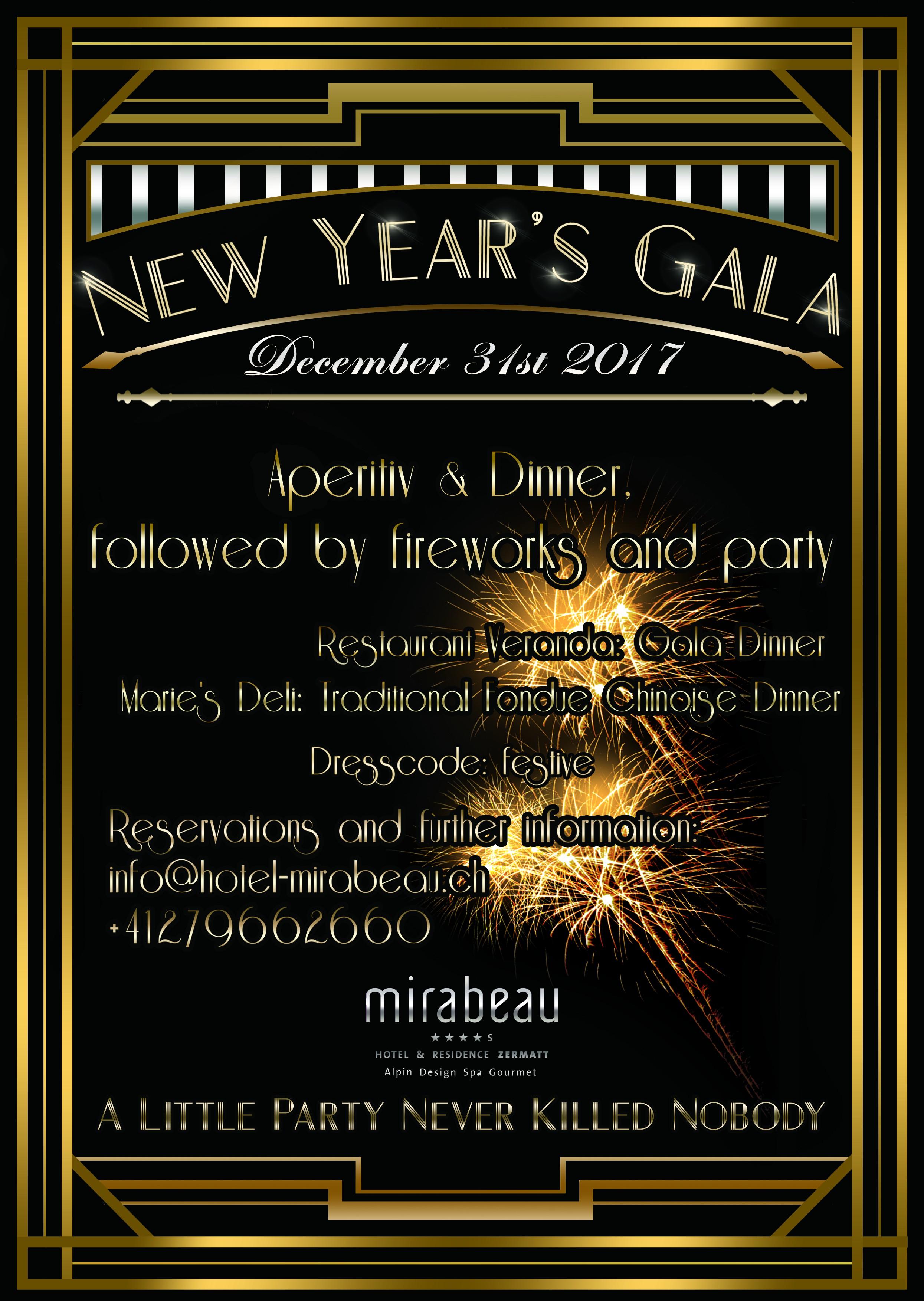 NYE Gala Flyer