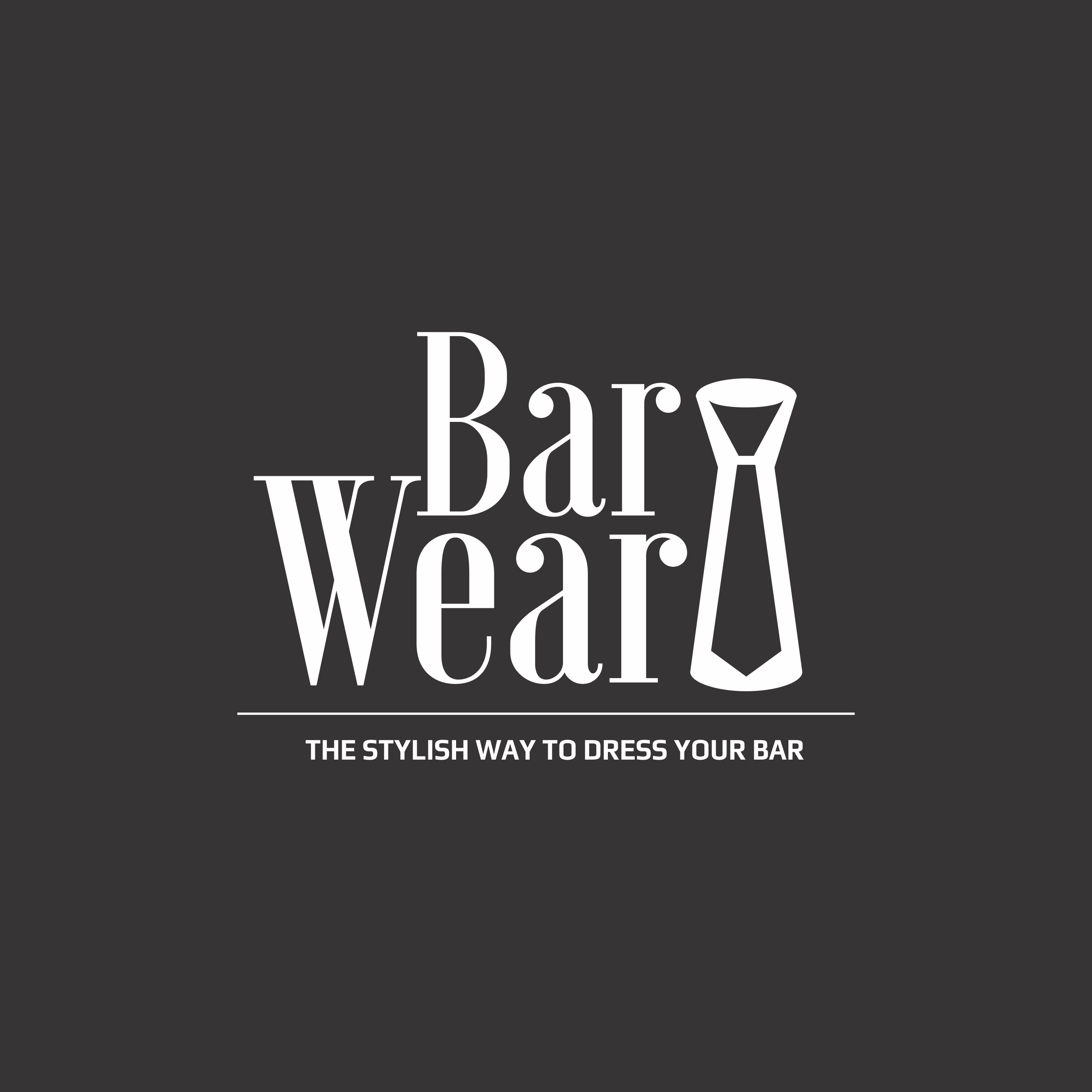 """Logo for prohibition style cocktail making kit.  """"The stylish way to dress your bar"""""""