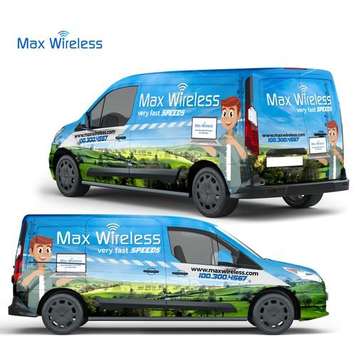Full Wrap Design For Max Wireless Company